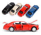 Child Toy Gift 1:32 Bentley Diecast Vehicle Car Model W Pull Back Sound&Light