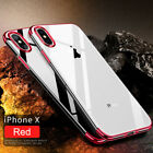 For iPhone X Edition Case Electroplate Clear Hybrid Soft TPU Hybrid Slim Cover