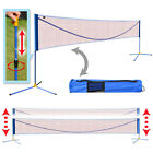 10ft Long Badminton Net Volleyball Tennis portable Net w Stand for Family Sport