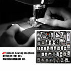 32/42/52 x Sewing Machine Presser Foot Feet Tool Set For Brother Singer Domestic