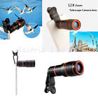 12x Optical Zoom HD Telescope Telephoto Camera Lens+Clip For iPhone Cell Phone G