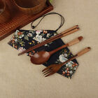Picnic Cutlery Set Tableware Sets Portable Natural Wooden Fork Spoon Chopsticks