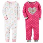 Внешний вид - Carters Girls 1-Piece Snug Fit Footless Pajama Rainbow Unicorn Heart Sleeper PJs
