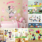 Lovely Mickey Minnie Mouse Wall Sticker Mural Vinyl Decals Kids Nursery Decor