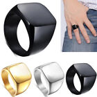 Cool Men Stainless Steel Ring Top Quality High Polished Signet Solid Biker Ring