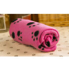 S/M Soft Warm Pet Fleece Blanket Bed Mat Pad Cover Cushion For Dog Cat Puppy