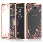 Samsung Galaxy J7 Sky Pro/J7 Perx/J7 V Luxury Crystal Bling TPU Clear Case Cover