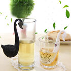 Colander Swan Infuser Loose Tea Leaf Strainer Herbal Spice Filter Diffuser Hot