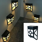Solar Powered Wall Light Outdoor Path Yard Garden Fence Landscape Lamp Mount LED