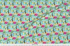 Tropical Island Beach Hibiscus Fabric Printed by Spoonflower BTY