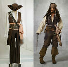 Customized Pirates Of The Caribbean Captain Jack Sparrow Cos Costume Halloween