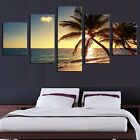 5PCS Wolf Seaview Art Oil Painting Unframed Canvas Print Wall Picture Home Decor