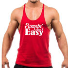 Stringer C598 PUMPIN' AIN'T EASY Men's Workout Body Building Tank Top USA Size