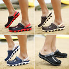 Mens Mesh Breathable Hollow Out Sandals Rubber Slippers Soft Beach Shoes Gifts