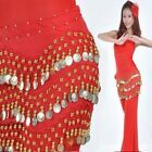 Coins Fashion Hip Row Coin New Chiffon Rows Dancing Scarf Belt Belly Dance