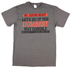 No You're Right Let's Do It The Dumbest Way Possible Graphic T Shirt