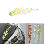 3D Flame Decal Reflective Car Sticker 20cm*7.5cm Soft Gel Flame Design Decal