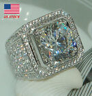Size 8,9,10,11,12 Fashion Mens Full Diamonds Engagement Rings Party Wedding Gift