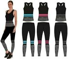 Ladies 2 Piece Gym Wear Set One Size 8-14 Exercise Yoga Vest/Crop Top Leggings