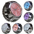 Lovers Womens Mens Elastic Dial Quartz Finger Ring Watch Analog Wrist Watch Gift image