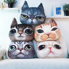 3D Cartoon Plush Funny Cat Dog Face Fleece Throw Pillow Case Cushion Cover Decor