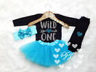 Baby Girl Wild One Outfit, Baby Girls First Birthday Outfit, Girl Bithday Outfit