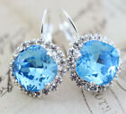 Earrings Made W Swarovski Crystals Bridesmaid Gift Mom Silver Lever Back Or Clip