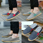 Men's Loafers Driving Moccasins Shoes Casual Canvas Sneakers Grey Brown Blue