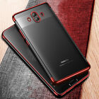 For Huawei Mate 9 / 10 Pro Ultra Thin Clear Soft TPU Case Plating Bumper Cover