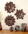 SETS OF 3 METAL WALL FLOWERS. CHOICE OF COLOR. FREE SHIPPING!! 25% OFF W17