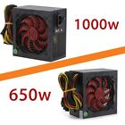 Quiet 1000W / 650W Watt for Intel AMD PC ATX Power Supply PSU SATA 12V LOT