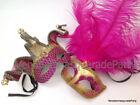 Fuchsia Pink Masquerade Mask Mardi Gras Party Couple Jester Sweet 16s Birthday