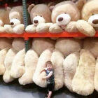 Внешний вид - HUGE GIANT TEDDY BEAR HIGH QUALITY COTTON PLUSH LIFE SIZE STUFFED ANIMAL80-260CN