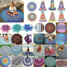 Boho Hippie Mandala Round Towel Indian Tapestry Beach Throw Blanket Yoga Mat