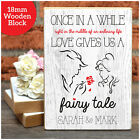 PERSONALISED Valentines Day Gifts BEAUTY AND THE BEAST Fairytale Wooden Blocks