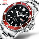 Men Sport Blue Dial Automatic Date Mechanical Waterproof Stainless Diving Watch image
