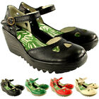 Womens Fly London Yuna Wedge Heel Sandals Ankle Strap Summer Work Shoes US 5-10