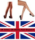 GLOSSY GLASS LOOK SHINY NYLONS TIGHTS ONE SIZE 6 8 10 12 UK