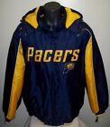 Indiana PACERS Winter Jacket Parka Fleece Lining XXL BLUE / YELLOW