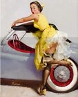 Gil Elvgren-Cover Up, Canvas/Paper Print, Pinup Girl