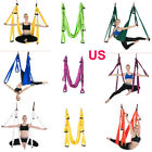 Large Solid Aerial Yoga Swing Sling Hammock Hanging Inversion Trapeze+Bag US