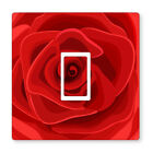 2x Red Illustrated Rose- Uk Light Switch Stickers, Living Room Bedroom Decor