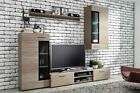 tango tv stand unit wall mounted display cabinet shelf sideboard with LED lights