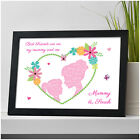 PERSONALISED Mum Mummy and Daughter Kissing Mothers Day Christmas Birthday Gifts
