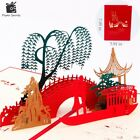 3D Pop Up Birthday Greeting Postcards Gift Cards Heart Marriage Invitation Love