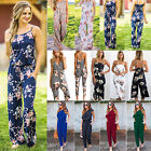 Women's Floral Clubwear Summer Playsuit Bodycon Party Jumpsuit Romper Trousers
