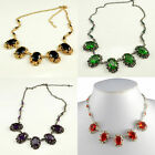 CHUNKY SILVER / ANTIQUE / GOLD TONE VICTORIAN BLACK GREEN PUPRLE RED NECKALCE