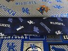 KENTUCKY WILDCATS COTTON FABRIC BT 1/2 Yard  4 New Prints Sykel Enterprises