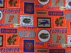 FLORIDA GATORS COTTON FABRIC BT 1/2 Yard 3 New Prints Sykel Enterprises