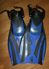 Brand New Blue TWF Kids Adjustable Fins Flippers Scuba Snorkelling Holiday S/M/L